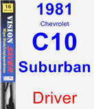Driver Wiper Blade for 1981 Chevrolet C10 Suburban - Vision Saver