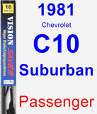 Passenger Wiper Blade for 1981 Chevrolet C10 Suburban - Vision Saver