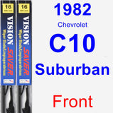 Front Wiper Blade Pack for 1982 Chevrolet C10 Suburban - Vision Saver