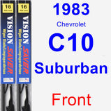 Front Wiper Blade Pack for 1983 Chevrolet C10 Suburban - Vision Saver