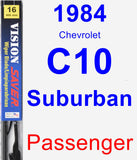 Passenger Wiper Blade for 1984 Chevrolet C10 Suburban - Vision Saver