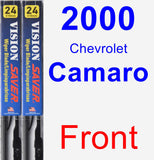 Front Wiper Blade Pack for 2000 Chevrolet Camaro - Vision Saver