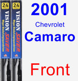 Front Wiper Blade Pack for 2001 Chevrolet Camaro - Vision Saver
