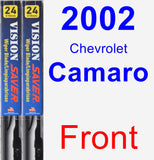 Front Wiper Blade Pack for 2002 Chevrolet Camaro - Vision Saver