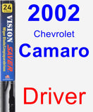 Driver Wiper Blade for 2002 Chevrolet Camaro - Vision Saver