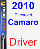 Driver Wiper Blade for 2010 Chevrolet Camaro - Vision Saver