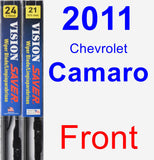 Front Wiper Blade Pack for 2011 Chevrolet Camaro - Vision Saver