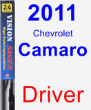 Driver Wiper Blade for 2011 Chevrolet Camaro - Vision Saver