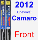 Front Wiper Blade Pack for 2012 Chevrolet Camaro - Vision Saver