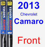 Front Wiper Blade Pack for 2013 Chevrolet Camaro - Vision Saver