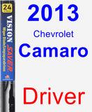 Driver Wiper Blade for 2013 Chevrolet Camaro - Vision Saver
