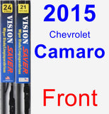 Front Wiper Blade Pack for 2015 Chevrolet Camaro - Vision Saver