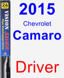 Driver Wiper Blade for 2015 Chevrolet Camaro - Vision Saver