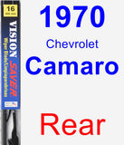 Rear Wiper Blade for 1970 Chevrolet Camaro - Vision Saver