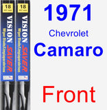 Front Wiper Blade Pack for 1971 Chevrolet Camaro - Vision Saver