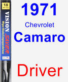 Driver Wiper Blade for 1971 Chevrolet Camaro - Vision Saver