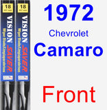 Front Wiper Blade Pack for 1972 Chevrolet Camaro - Vision Saver