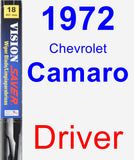 Driver Wiper Blade for 1972 Chevrolet Camaro - Vision Saver