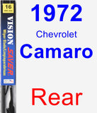 Rear Wiper Blade for 1972 Chevrolet Camaro - Vision Saver