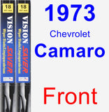 Front Wiper Blade Pack for 1973 Chevrolet Camaro - Vision Saver