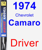 Driver Wiper Blade for 1974 Chevrolet Camaro - Vision Saver