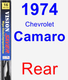 Rear Wiper Blade for 1974 Chevrolet Camaro - Vision Saver