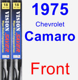 Front Wiper Blade Pack for 1975 Chevrolet Camaro - Vision Saver
