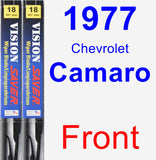 Front Wiper Blade Pack for 1977 Chevrolet Camaro - Vision Saver
