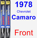 Front Wiper Blade Pack for 1978 Chevrolet Camaro - Vision Saver