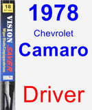 Driver Wiper Blade for 1978 Chevrolet Camaro - Vision Saver