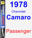Passenger Wiper Blade for 1978 Chevrolet Camaro - Vision Saver