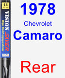 Rear Wiper Blade for 1978 Chevrolet Camaro - Vision Saver