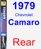 Rear Wiper Blade for 1979 Chevrolet Camaro - Vision Saver