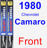 Front Wiper Blade Pack for 1980 Chevrolet Camaro - Vision Saver