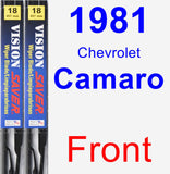 Front Wiper Blade Pack for 1981 Chevrolet Camaro - Vision Saver