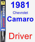 Driver Wiper Blade for 1981 Chevrolet Camaro - Vision Saver