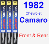 Front & Rear Wiper Blade Pack for 1982 Chevrolet Camaro - Vision Saver
