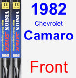 Front Wiper Blade Pack for 1982 Chevrolet Camaro - Vision Saver