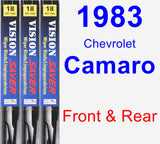 Front & Rear Wiper Blade Pack for 1983 Chevrolet Camaro - Vision Saver