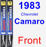 Front Wiper Blade Pack for 1983 Chevrolet Camaro - Vision Saver