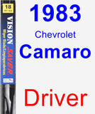 Driver Wiper Blade for 1983 Chevrolet Camaro - Vision Saver