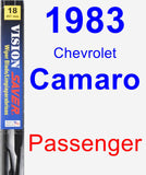 Passenger Wiper Blade for 1983 Chevrolet Camaro - Vision Saver