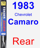 Rear Wiper Blade for 1983 Chevrolet Camaro - Vision Saver
