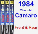 Front & Rear Wiper Blade Pack for 1984 Chevrolet Camaro - Vision Saver