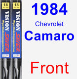 Front Wiper Blade Pack for 1984 Chevrolet Camaro - Vision Saver