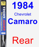 Rear Wiper Blade for 1984 Chevrolet Camaro - Vision Saver