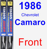 Front Wiper Blade Pack for 1986 Chevrolet Camaro - Vision Saver