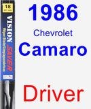 Driver Wiper Blade for 1986 Chevrolet Camaro - Vision Saver