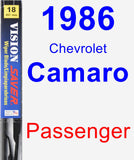 Passenger Wiper Blade for 1986 Chevrolet Camaro - Vision Saver