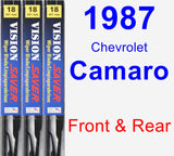 Front & Rear Wiper Blade Pack for 1987 Chevrolet Camaro - Vision Saver